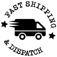 Fast Shipping & Dispatch - Black Courier Van In Circle Icon