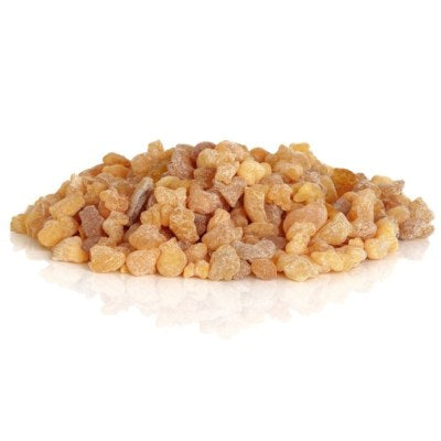 Frankincense Resin From Boswellia sacra Tree On White Background