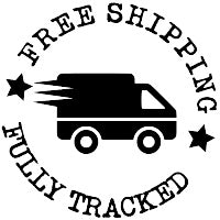 Free Shipping & Fully Tracked - Black Courier Van In Circle Icon