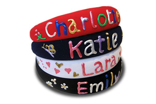 Multi Coloured Headbands Featuring Names