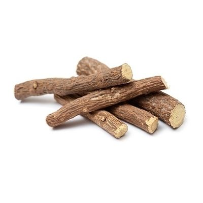 Brown Liquorice Root On White Background