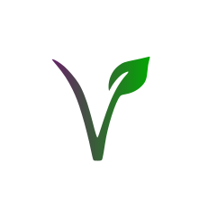 Vegan Symbol In Purple & Green With 100% Natural & Vegan Friendly Written Around