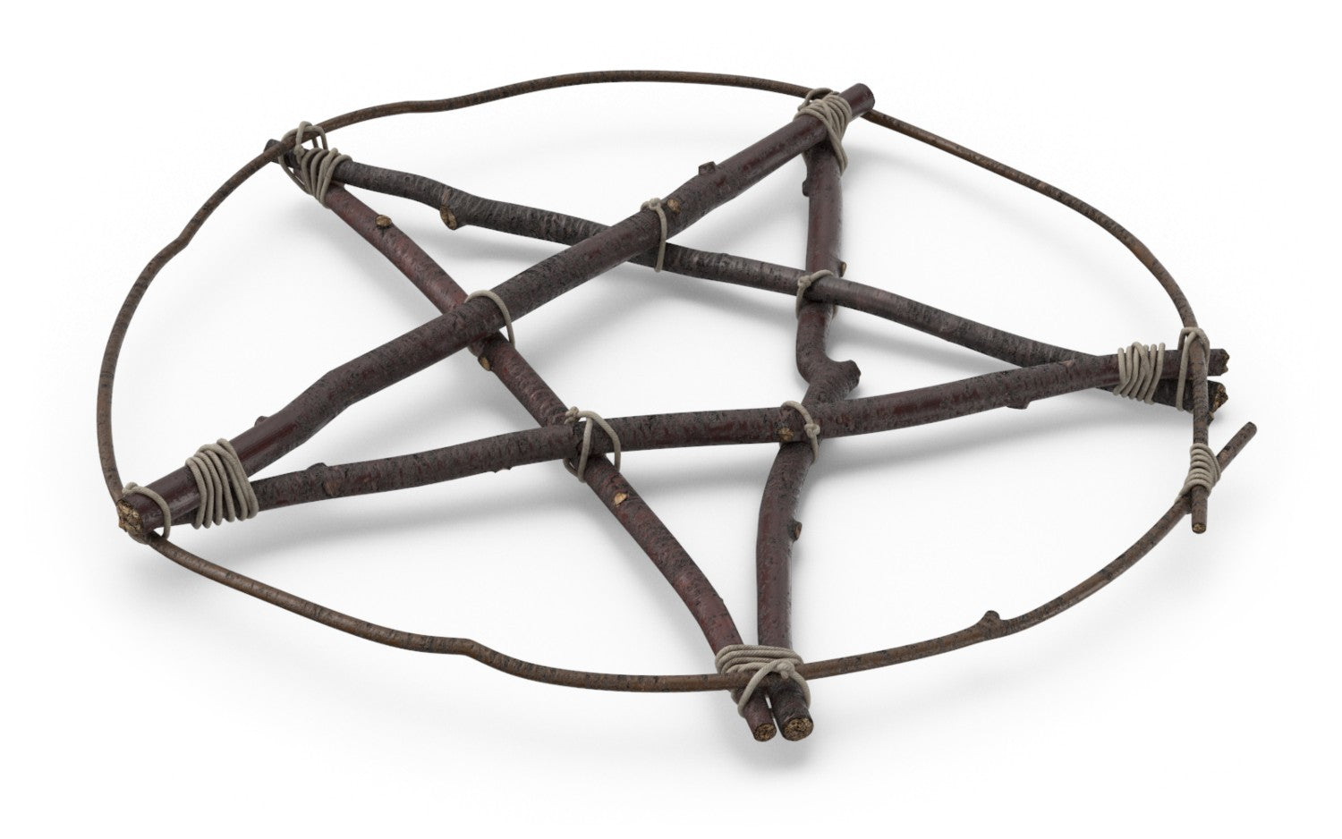 Naturally Wicked Wicca Pentagram AKA Pagan Star Made From Brown Sticks & String