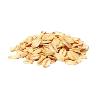 A Pile Of Fresh Brown Oats On White Background