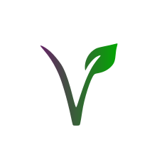 Vegan Symbol In Purple & Green With Plant Based & Vegan Friendly Written Around