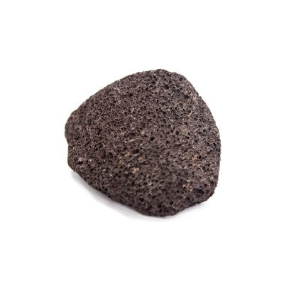 Natural Dark & Grainy Pumice Stone On White Background