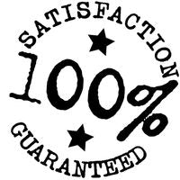 100% Guaranteed Satisfaction In Black Circle Icon