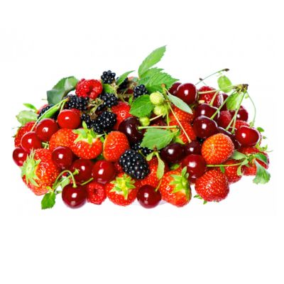 A Mass Of Multicoloured Fruits & Berries High In Sorbitol
