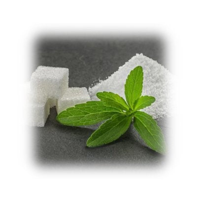 White Sugar Cubes Surrounded By Sugar Leaves
