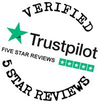 Verified 5 Star Green Trustpilot Reviews Badge