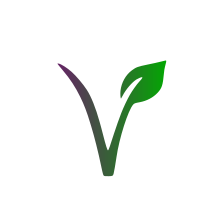Vegetarian Symbol In Purple & Green With 100% Natural & Vegetarian Friendly Written Around