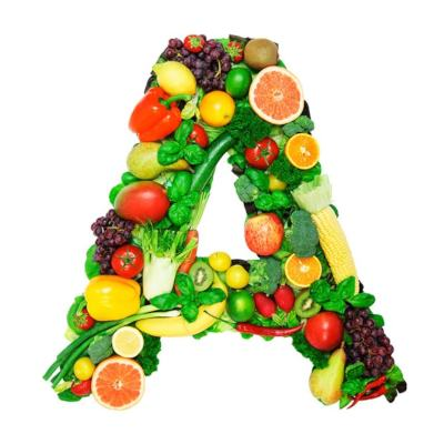 Letter A Made Up Of Colourful Vitamin A Rich Fruits & Vegetables