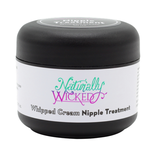 Naturally Wicked Whipped Cream Nipple Treatment On Black Background