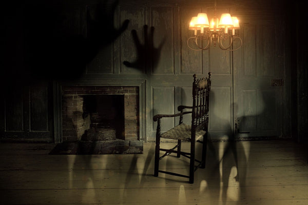 Spooky Ghost Chair In Dark Haunted House