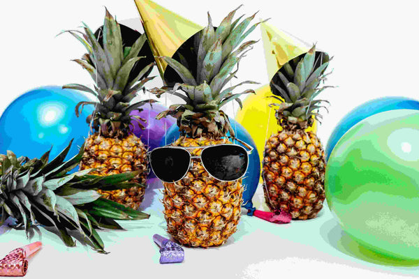 Pineapple Fruits With Party Hats