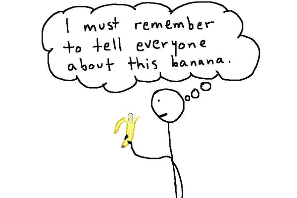 Stick Man With Banana Quote