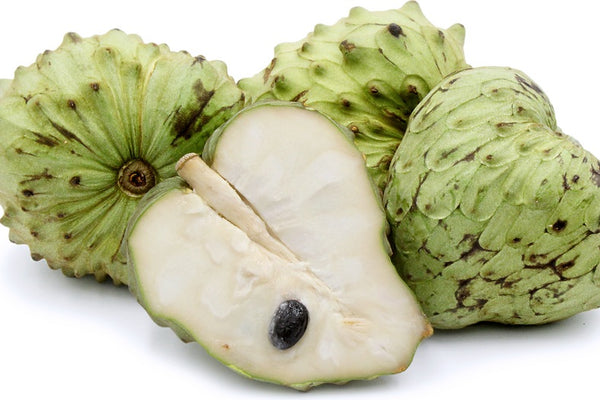 Cherimoya Fruit Sliced and whole