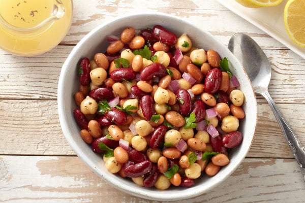 Mexican Mixed Bean Salad with Oil and Lemon