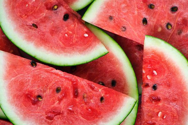 juicy slices of red watermelon