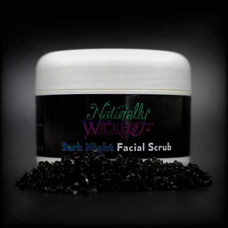 Naturally Wicked Dark Night Liquorice Facial Scrub Behind A Pile Of Fine Black Charcoal - Step 1