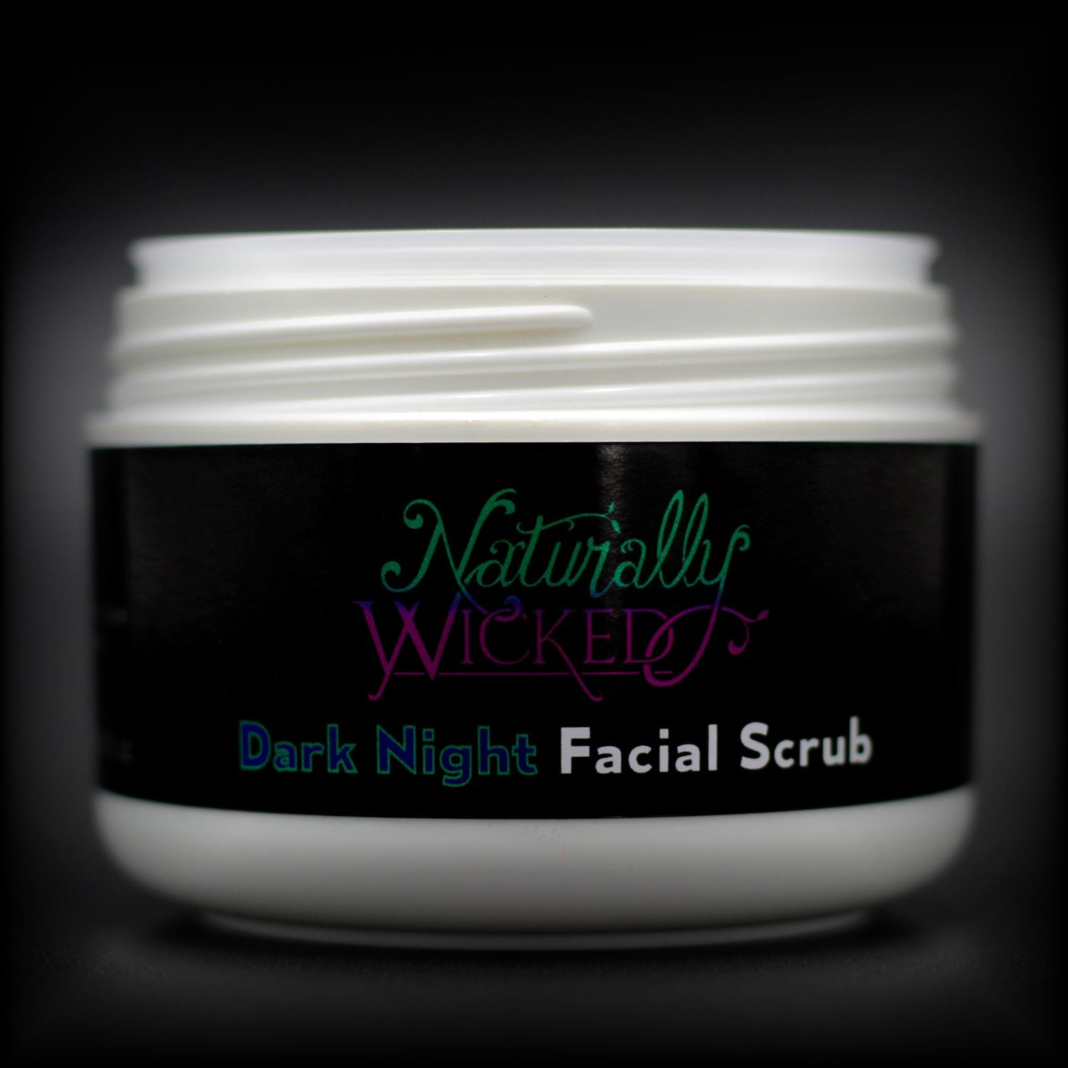 Naturally Wicked Dark Night Facial Scrub Container, Seal & Screw Connection Without Lid