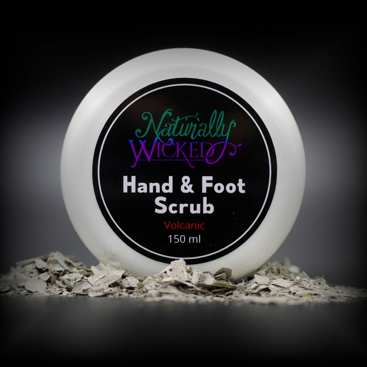 Naturally Wicked Volcanic Hand & Foot Scrub Lid In White Volcanic Ash
