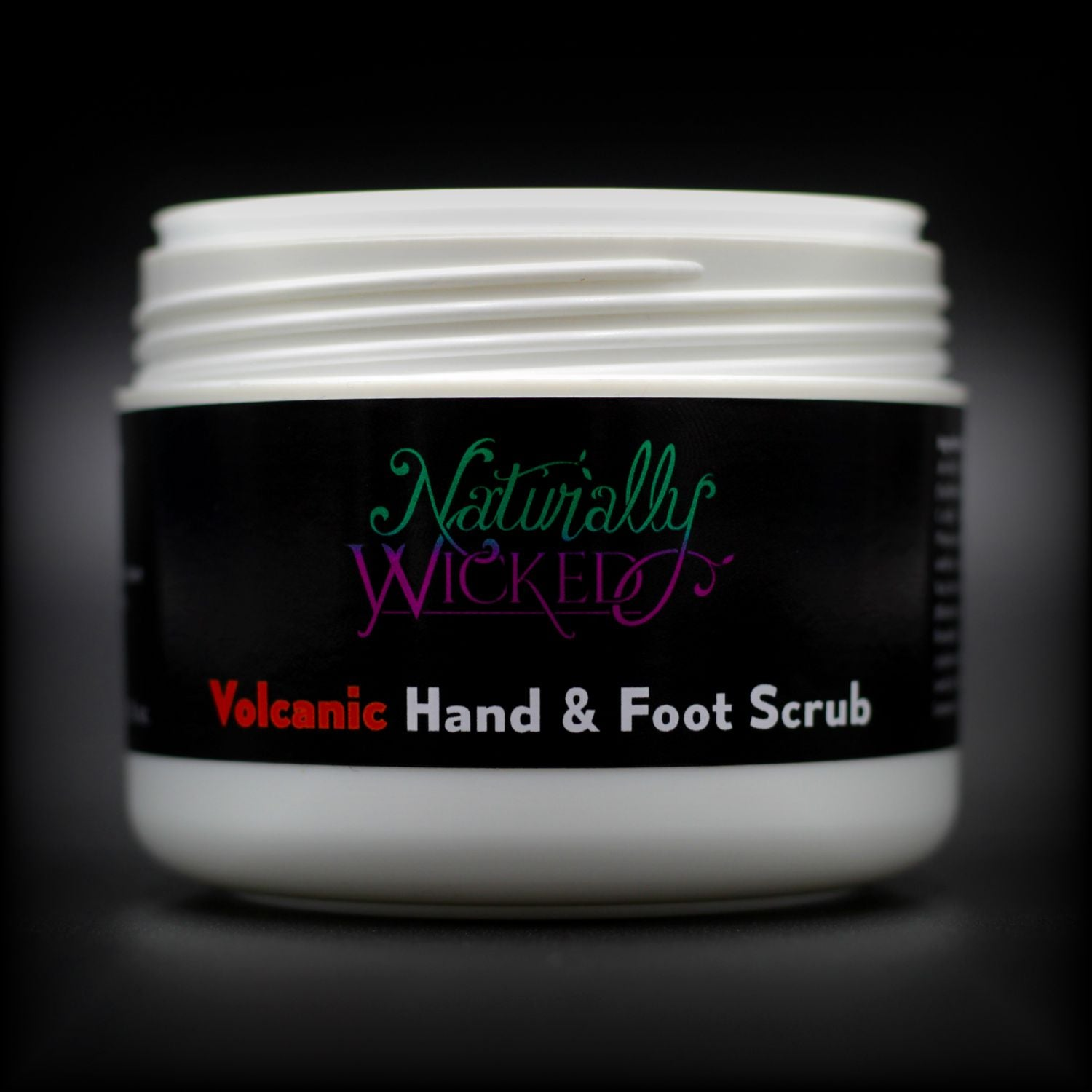 Naturally Wicked Volcanic Hand & Foot Scrub Container, Seal & Screw Connection Without Lid