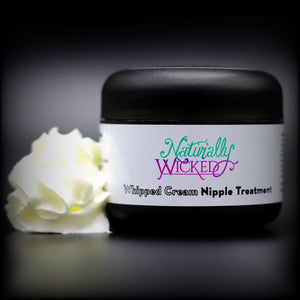 Naturally Wicked Whipped Cream Nipple Treatment Alongside Thick White Whipped Moisturising Nipple Cream