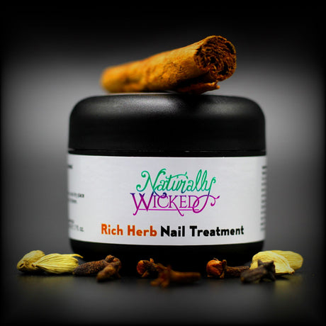 Naturally Wicked Rich Herb Nail Treatment Alongside Cloves & Cardamom With Cinnamon On Top - Step 2