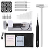 Watch Band Strap Link Pins Remover Repair Tool,24 in 1 Kit with 3 Extra Tips Replacement,20PCS Cotter Pin,1PCS Holder,1PCS Head Hammer,1PCS Tweezers,1PCS Glasses Cloth - TM Leather