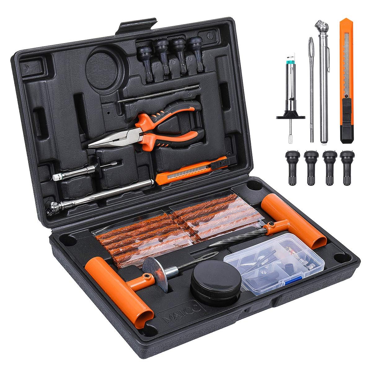 Details about  / Tire Repair Kit DIY Flat Tire Repair Car Truck Motorcycle Home Plug Patch 57pc