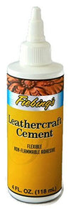 FIEBING'S Leathercraft Cement, 4 oz - High Strength Bond for Leather Projects and More - Non-toxic - TM Leather