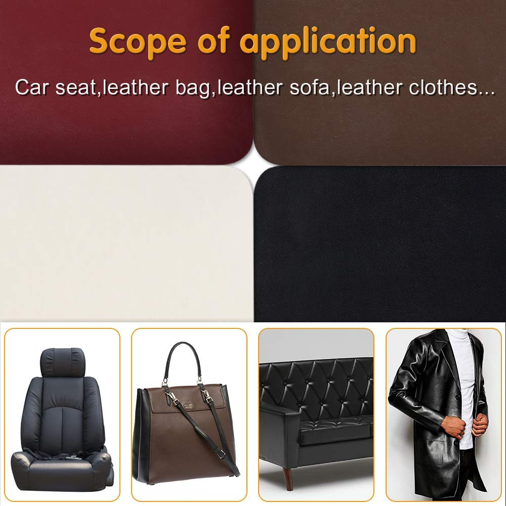 Leather Repair Patch self adhesive For Couch Sofa Car Seat Handbag Big Hole Fix