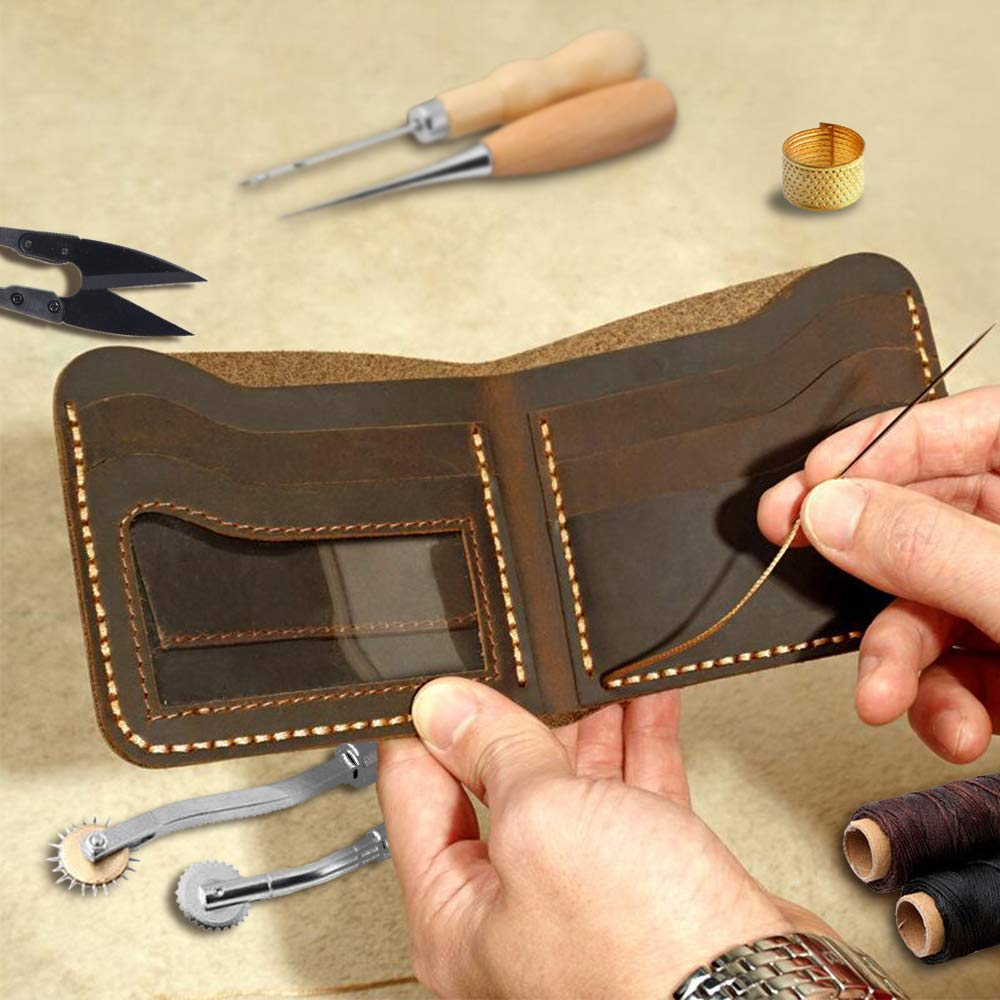 Leather Working Tools Repair Kit Sewing Craft Supplies Stitching Making Groover