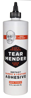 TEAR MENDER - Instant Fabric and Leather Adhesive, 4 Size of Bottle Available - TM Leather
