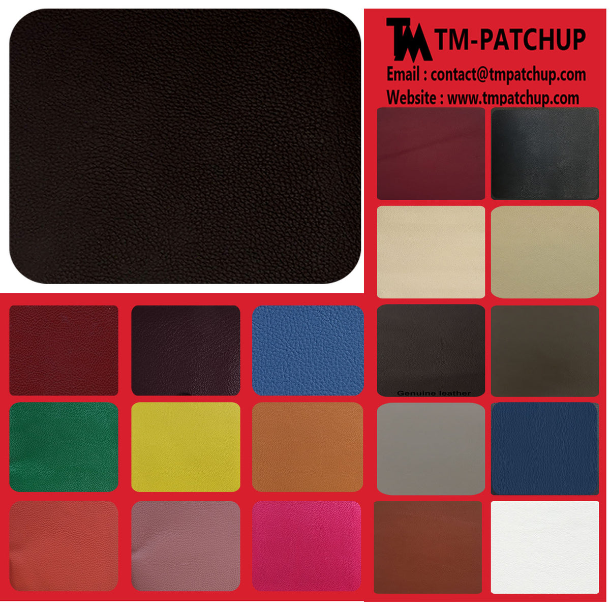 Black Brown Leather Repair Patches , Multiple Size