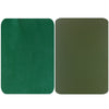 Dark Green Genuine Leather Repair Patches , Multiple Size