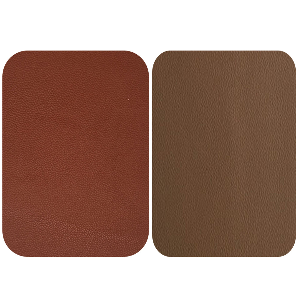 Tan Coffee / Tan Peanut Leather Repair Patches , Multiple Size
