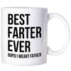 Funny Fathers Day Mug Gifts For Dad Best Farter Ever Oops I Meant Father Coffee Mug Fathers Day Cup For Dad
