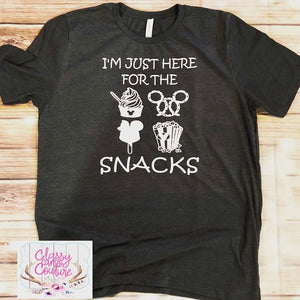 ADULTS - I'm Just Here for the Snacks Crewneck Tee