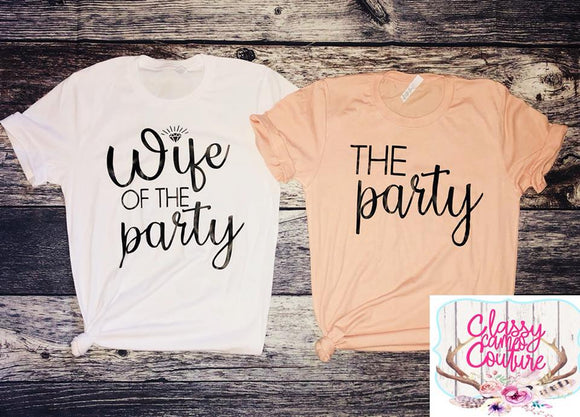 ADULTS - Wife of the Party - The Party - Crewneck Tees