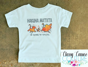 KIDS - Hakuna Matata - it means no worries watercolor tee