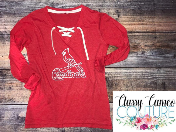 STL Cardinals Lace Up Tee