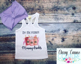 KIDS - I'm the reason mommy drinks racerback tank/tee