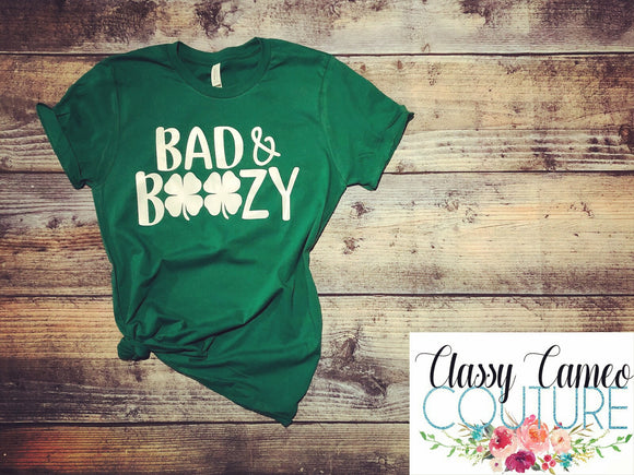 Bad & Boozy St. Patrick's Day Tee