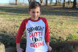 KIDS - Straight outta your dreams baseball tee
