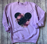 ADULTS - Disney Floral Mickey Sweatshirt