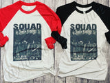 ADULTS - Slashers Squad Baseball Tee