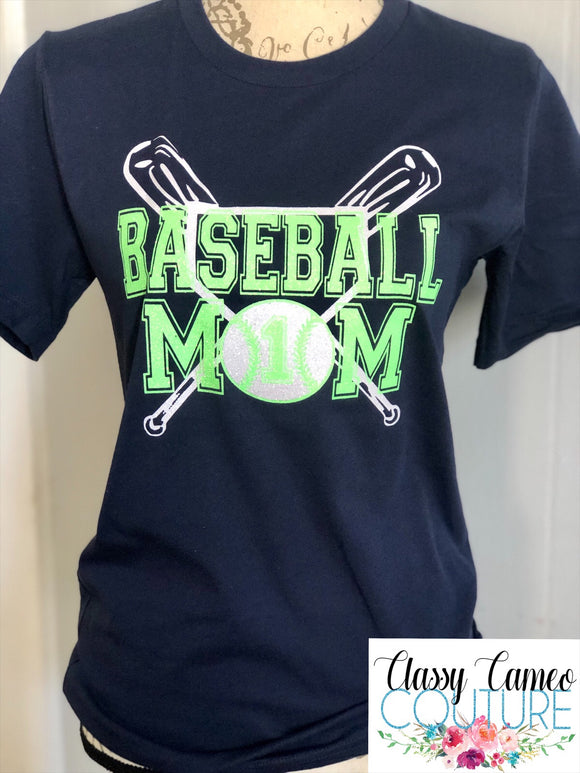ADULTS - Baseball Mom Roundneck Tee