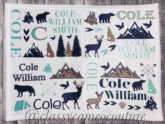 Woodland Mix Name Blanket